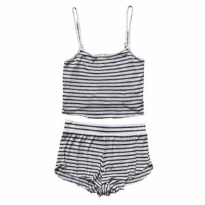 Forever 21 Two Piece Pajama Set, Size S